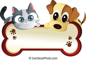 spandoek, dog, kat