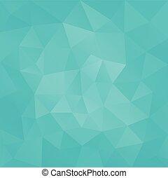 spandoek, turkoois, achtergrond, laag, facet, driehoekig, groene, poly