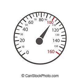 speedometers, auto, achtergrond, witte