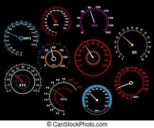 speedometers, set
