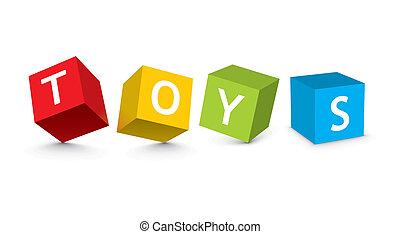 speelgoed belemmert, illustratie