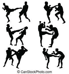 sporten, gevecht, man