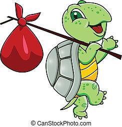 spotprent, schildpad