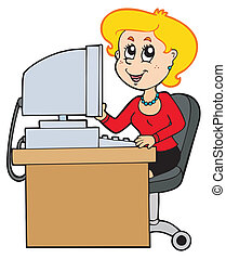 spotprent, secretaresse