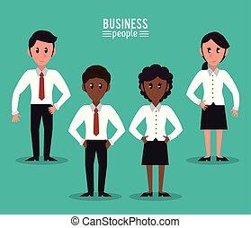 spotprent, zakenlui