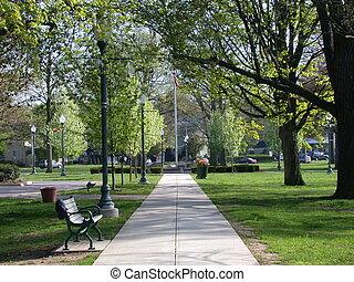 stad park, weg