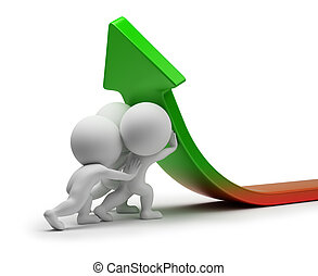statistiek, mensen, -, verbetering, kleine, 3d