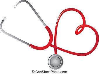 stethoscope rood
