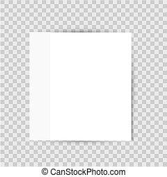 sticker, lijst, papier, achtergrond, schaduw, transparant