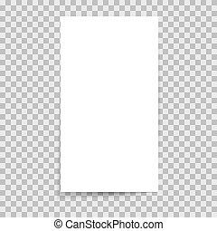 sticker, papier, blad