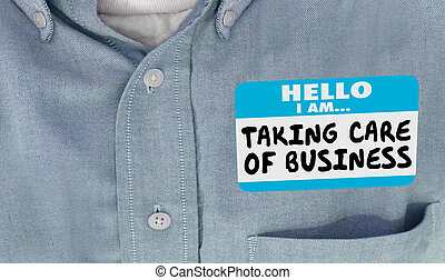 sticker, zakelijk, care, boeiend, label, naam, illustratie, hallo, hemd, 3d