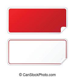 sticker, zwart rood
