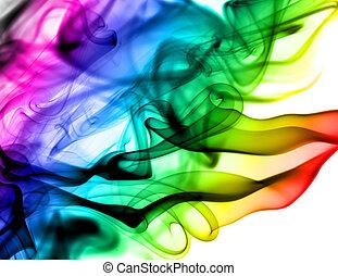 stoom, abstract, witte , kleurrijke, motieven