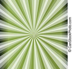 stralen, groene achtergrond