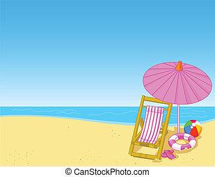 strand, zomer