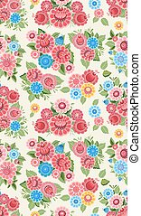 stylized, bloemen, mooi, seamless, textuur