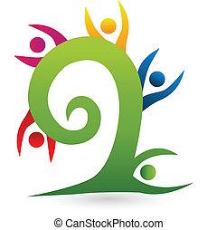 swirly, boompje, teamwork, logo