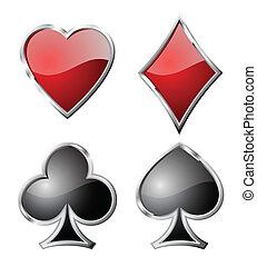 symbols., set, speelkaart
