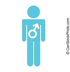 symbool, mannelijke , silhpuette, man, pictogram