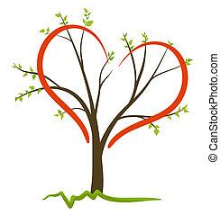 symbool, vector, liefde, natuur