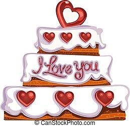 taart, valentine`s dag, heerlijk