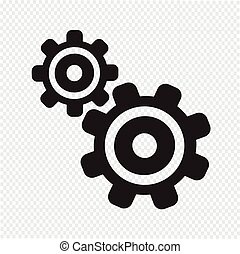 tandwiel, pictogram