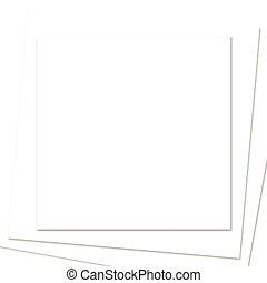 taste, witte , papier, plein, frame