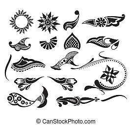 tatoeëren, element