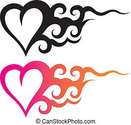 tatoeëren, hart