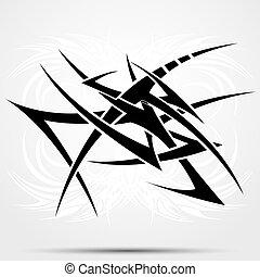 tatoeëren, van een stam, abstractie