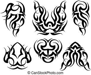 tatoeëren, van een stam, set