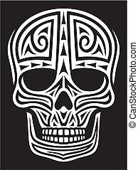 tattoo), ornament, (skull, schedel