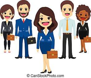team, zakelijk, personeel
