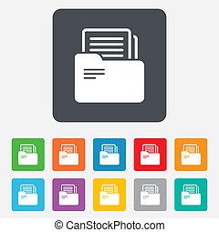 teken., symbool., binder, boekhouding, map, document