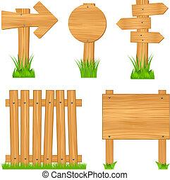 tekens & borden, raad, houten hek, richtingwijzer
