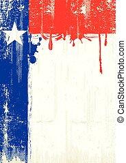 texas, fris, schilderij, poster