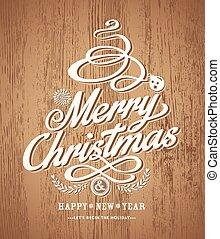 textuur, hout, ontwerp, achtergrond, kerstmis kaart