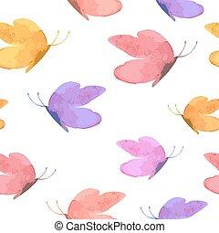 textuur, vlinder, schattig, design., seamless, jouw, vector