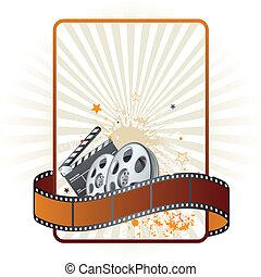 thema, film, film, strook, element