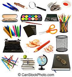 thema, opleiding, groep, voorwerpen