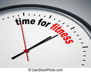 tijd, fitness