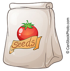 tomaat, zaden, zak