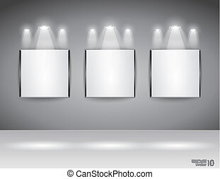 tonen, slagzin, paneel, kamer, tentoonstelling