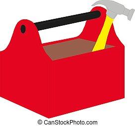 toolbox, vector, gereedschap, illustratie