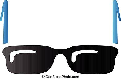 toon, brillen, -, duo, pictogram
