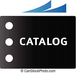 toon, catalogus, duo, -, pictogram