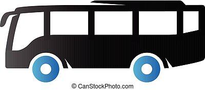 toon, duo, -, bus, pictogram