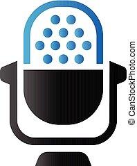 toon, microfoon, duo, -, pictogram