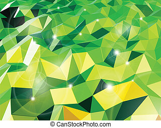 triangles., abstract, vector, groene achtergrond