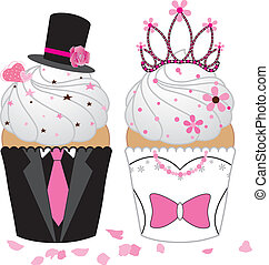 trouwfeest, cupcake